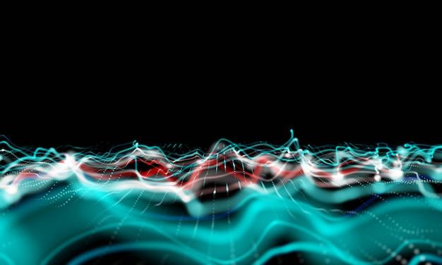 Onda sonora moderna efeito fundo 3d