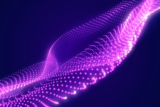 Onda violeta abstrata. fundo moderno