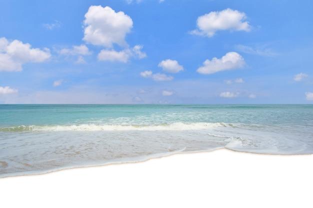 Ondas de água do mar na praia