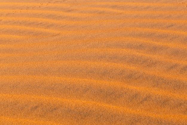Ondas de dunas no deserto do saara