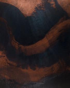 Ondas de ferrugem na superfície de metal