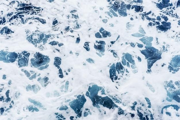 Ondas de fundo azul do mar