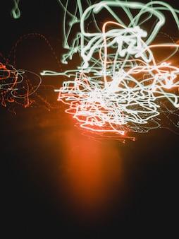 Ondas de luzes de néon coloridas