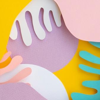Ondas de papel abstrato colorido