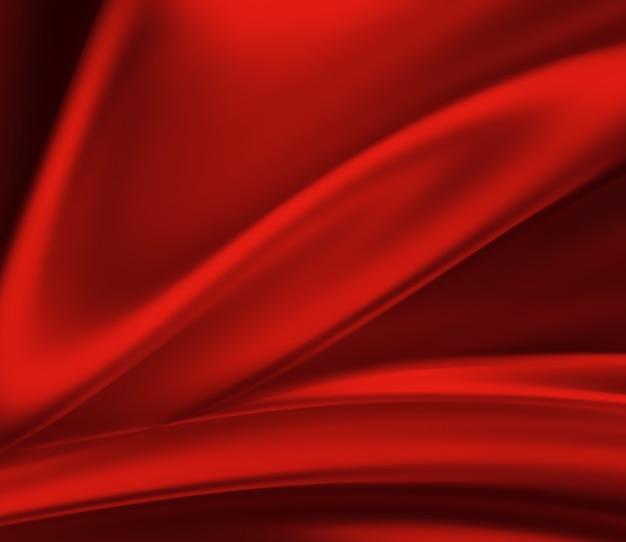 Ondas de seda vermelha em tela cheia como plano de fundo