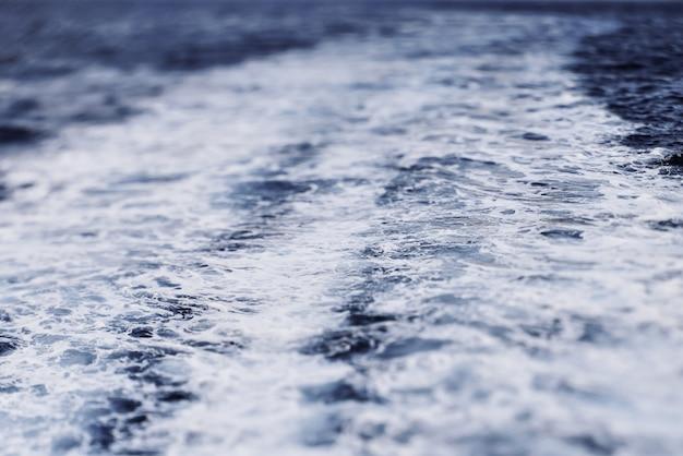 Ondas de textura do mar do navio