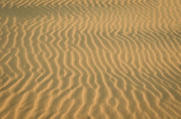 Ondas de textura em dunas de areia