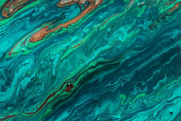 Ondas do mar de textura artística de tinta acrílica