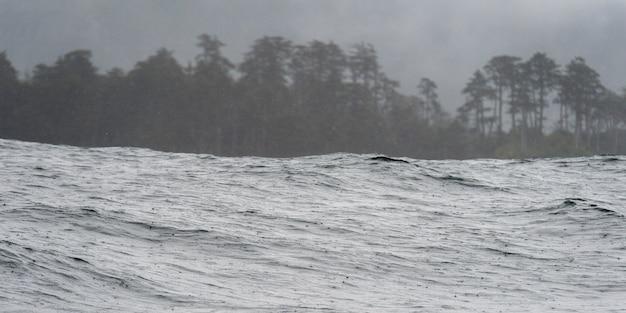 Ondas, em, a, oceano pacífico, skeena-queen, charlotte, distrito regional, haida gwaii, graham, ilha, br