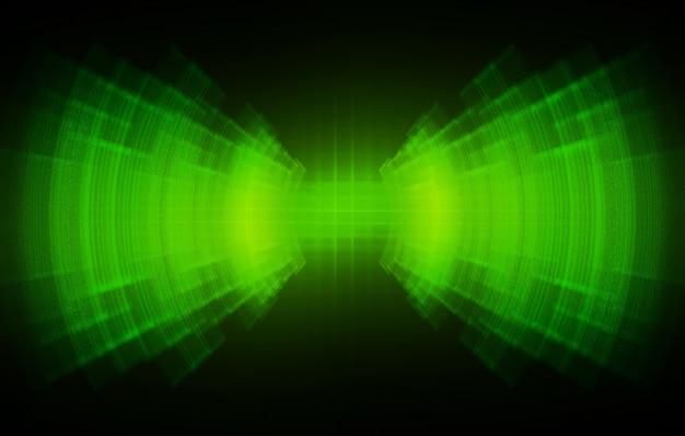 Ondas sonoras que oscilam luz verde escuro