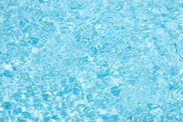Ondulação de água azul ciano verão brilhante legal frio piscina textura padrão natureza para segundo plano