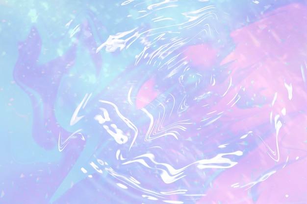Ondulação holográfica de gradiente pastel de água
