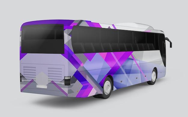 Ônibus com decoração de formas geométricas