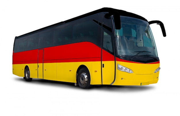 Ônibus da bandeira de alemanha