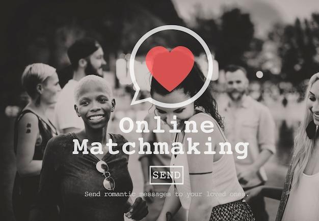Online matchmaking namoro cadastre-se concept