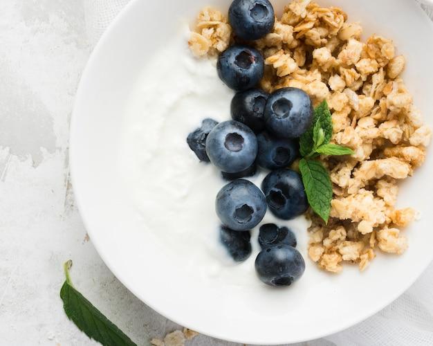 Opção vegetariana de comida matinal saudável