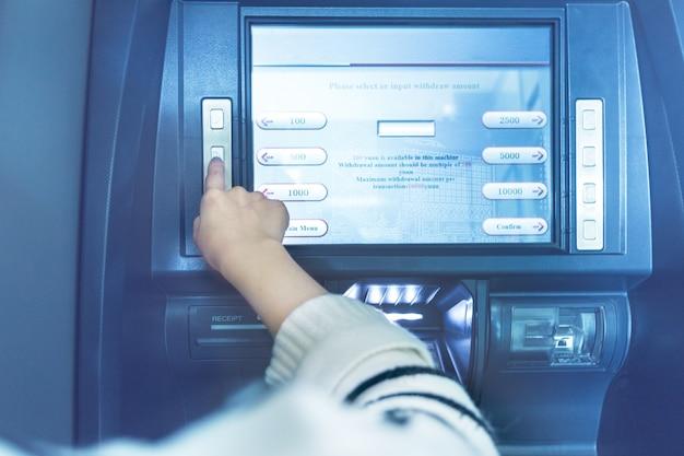 Operação atm no banco
