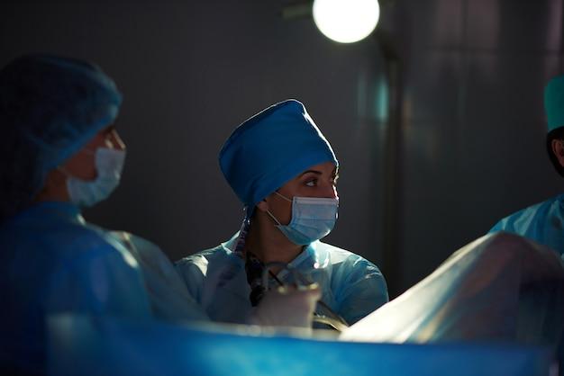 Operação em andamento no hospital