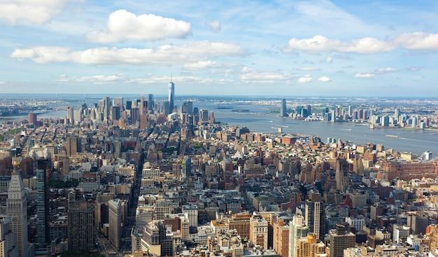Opinião da arquitectura da cidade de manhattan, new york city.