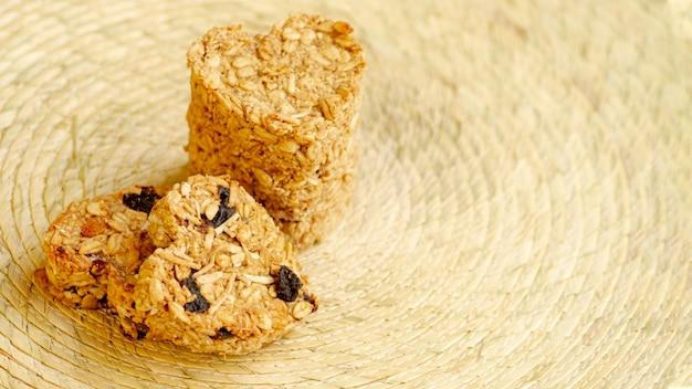 Opinião elevada dos cereais da forma do coração
