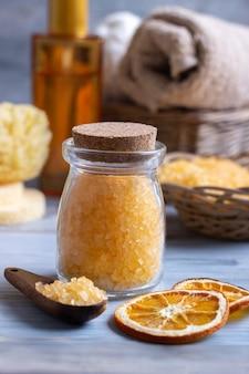 Orange spa e ambiente de bem-estar
