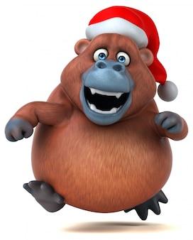 Orangotango divertido - ilustração 3d