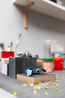 Organização de elementos de elaboração de trabalhos artesanais