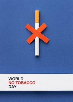 Organização de elementos do dia sem tabaco