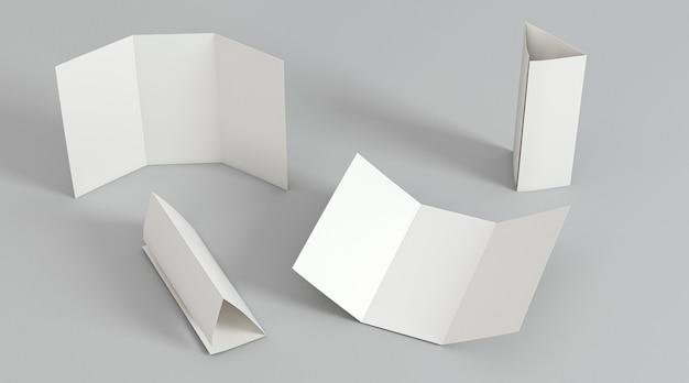 Organização do modelo de impressão de folheto com três dobras