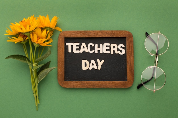 Organização dos elementos do dia do professor