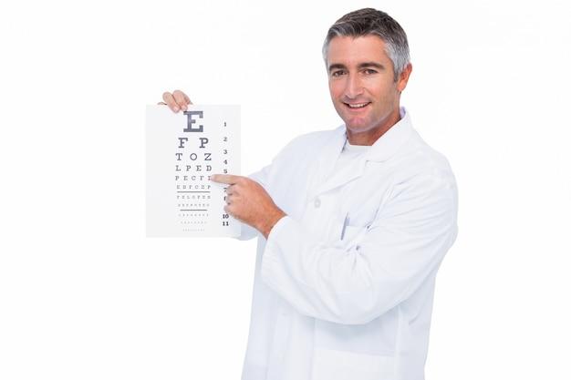 Órgão sorridente que apresenta a prova do olho