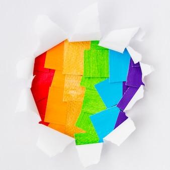 Orgulho dia da sociedade lgbt camadas de papel
