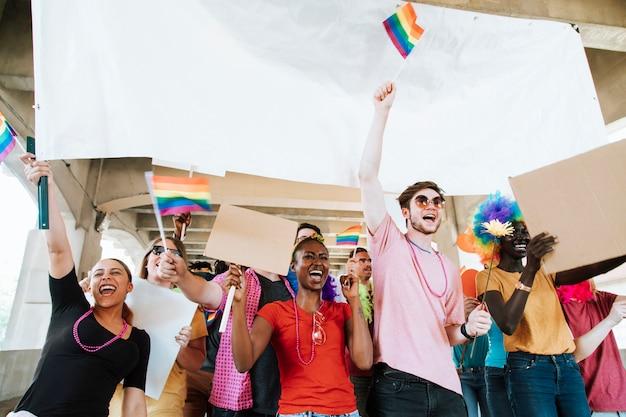 Orgulho gay alegre e festival lgbt