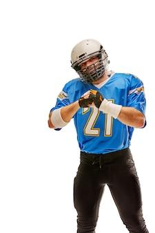 Orgulhoso jogador de futebol americano