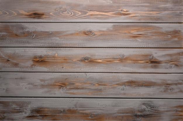 Orientação horizontal da superfície de madeira rústica cinza e marrom