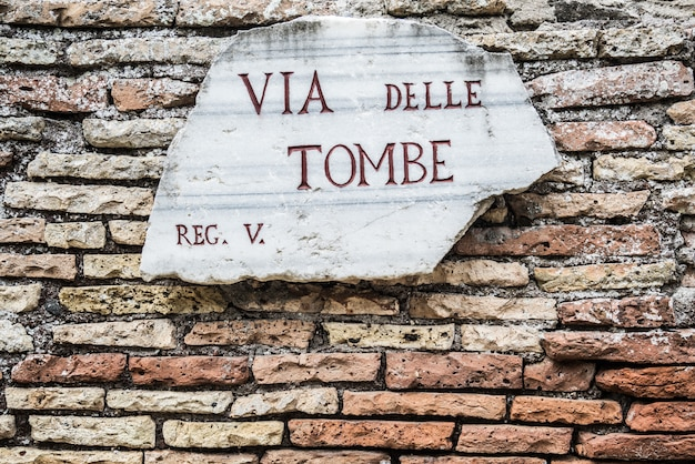 Orientação romana antiga em roma, itália