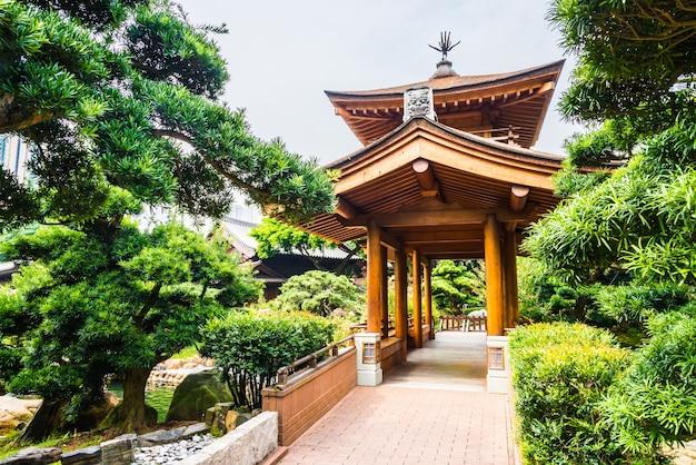Oriental asiático natureza lin pavilhão