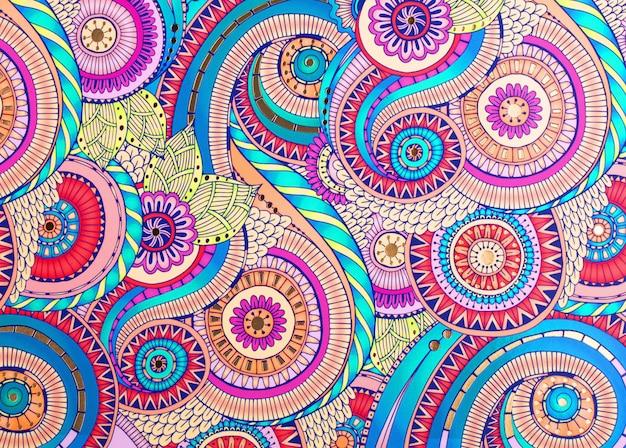 Ornamento colorido textura no papel. fundo