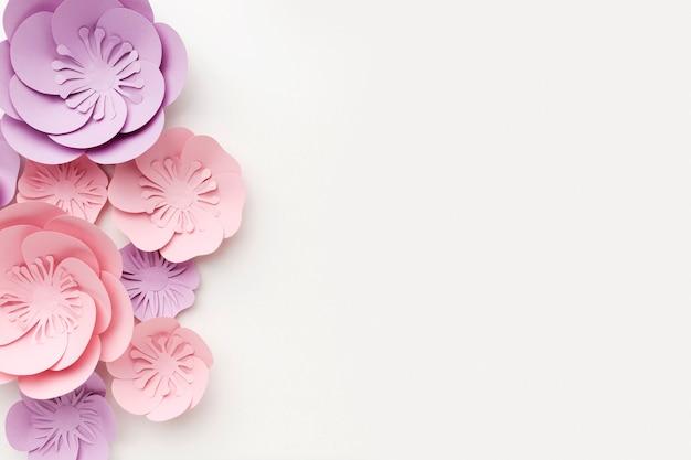 Ornamento de papel bonito com cópia-espaço