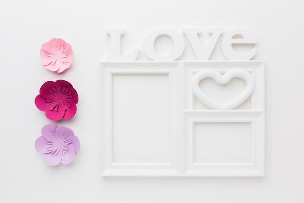 Ornamento de papel floral artístico