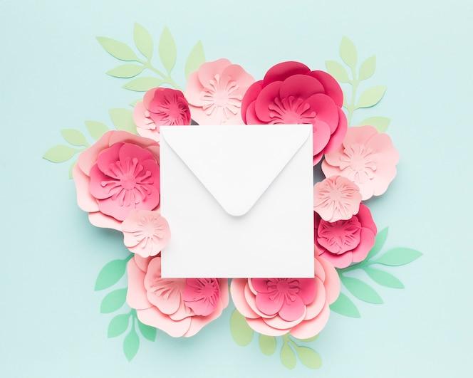 Ornamento de papel floral elegante grande
