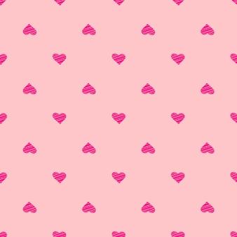 Ornamento de vetor sem envio de corações sem costura - fundo de feriado feliz dia dos namorados