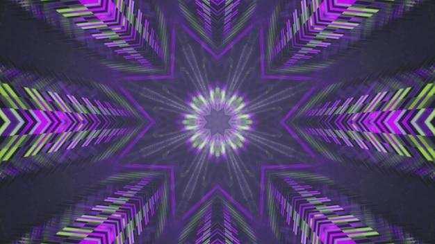Ornamento em forma de estrela dentro do túnel de vidro ilustração 3d 4k uhd