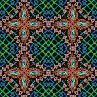 Ornamento étnico. fundo colorido do mosaico. padrão sem emenda.