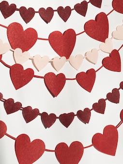 Ornamentos de formas diferentes de coração