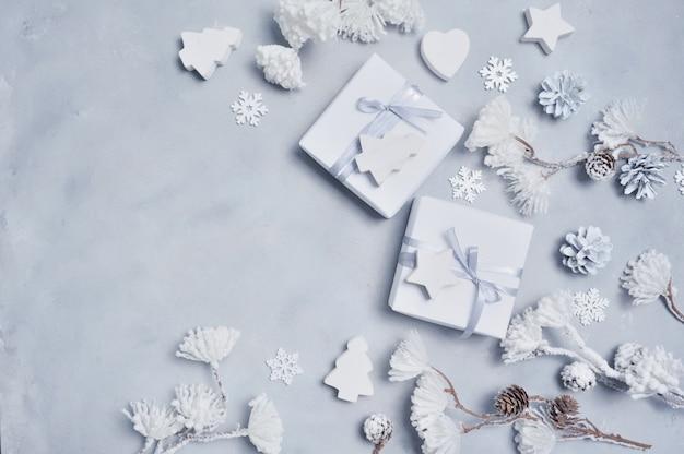 Ornamentos de inverno branco