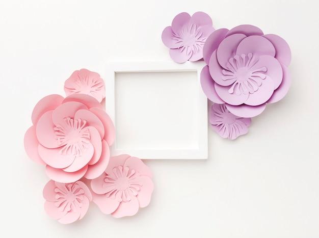 Ornamentos florais de vista superior