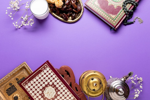 Ornamentos islâmicos com espaço de cópia