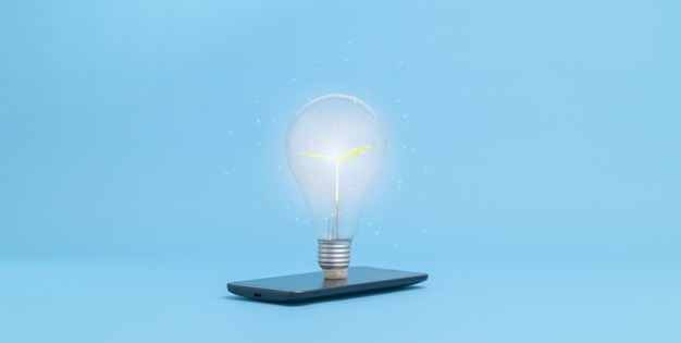 Os conceitos, novas ideias, lâmpadas