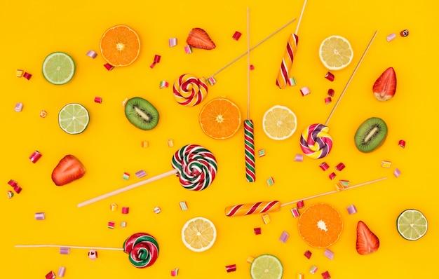 Os doces coloridos